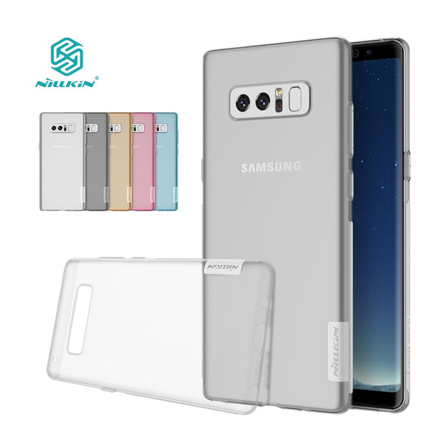 Note 8/9 Case Nillkin Nature Transparent Clear Soft Silicon TPU Protector Back Cover For Samsung Galaxy Note 8 Case Cover 6.32''