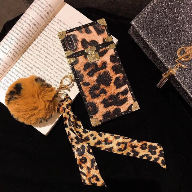ORYKSZ Luxury Leopard Print Phone Cases For IPhone X XS XR XS Max Metallic Leather Case For IPhone X 7 8 6 6s Plus Back Cover