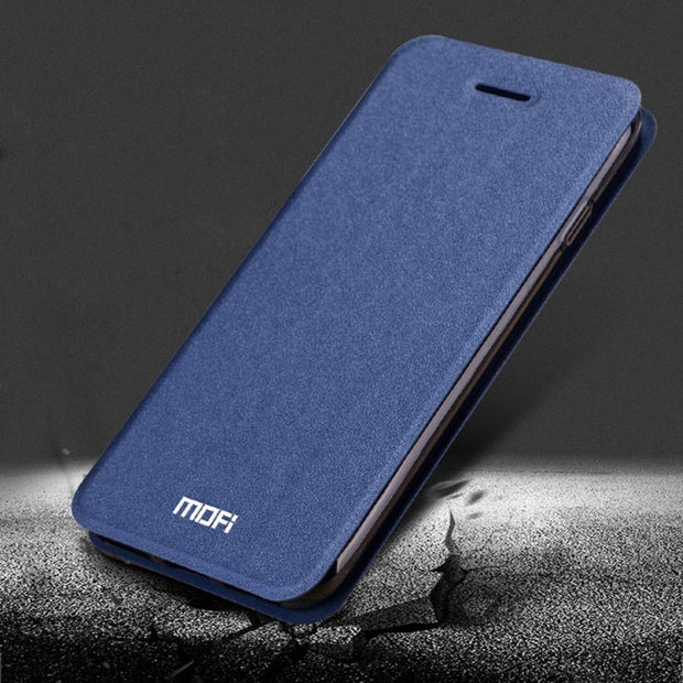 Original MOFI For IPhone 7 Cell Phone Case Crazy Horse Texture Horizontal Flip Leather Mobile Phone Case Cover Shell With Holder