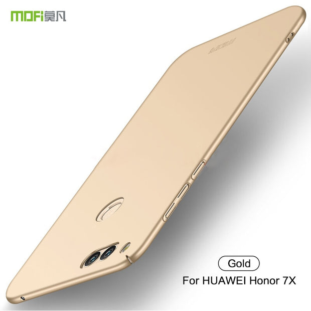 Original Mofi For Huawei Honor 7X Mobie Phone Case Silicone Scrub Cover Hard PC Back Cover For Huawei Honor 7X 7 X Honor7X Cases