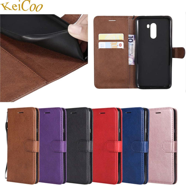 PU Leather Covers On For Xiaomi Pocophone Poco F1 64GB 128GB 256GB Case Magnet Wallet Bag Cover For Pocophone F1 Book Flip Cases