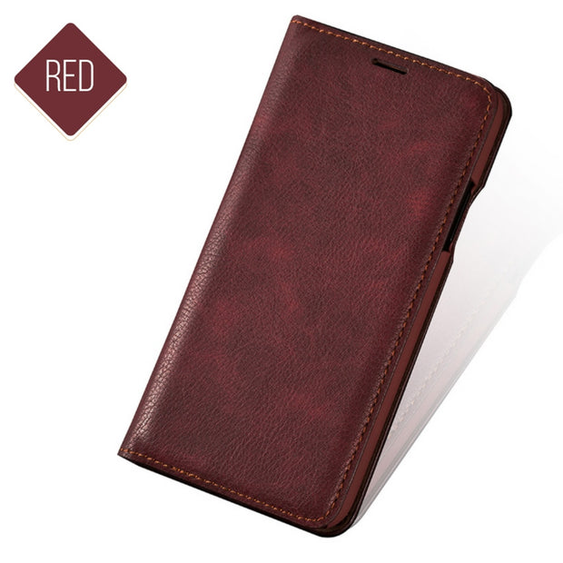 PU Leather Flip Cover Phone Shell Accessories Smartphone Card Holder For IPhone7plus 8 Plus Anti-Scratch Durable