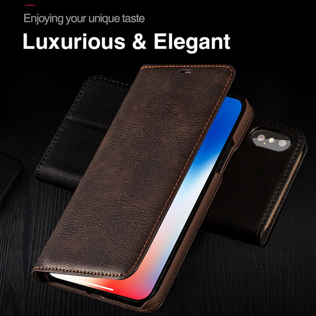 PU Leather Mobile Phone Case Flip Cover Card Holder Smartphone Wallet For Samsung Galaxy S8 Plus Anti-Scratch Ultra-Thin