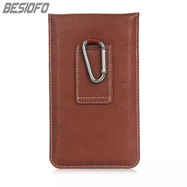 PU Leather Phone Case For Samsung Galaxy S4 S5 S6 S7 S8 S9 Outdoor Sport Climbing Holster Hook Loop Belt Magnetic Pouch Cover