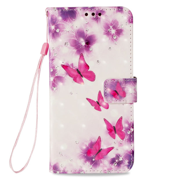 Painting PU Leather Phone Case For Huawei Mate10Pro & Mate 10lite &P20 Lite P20Pro P20 Flip Wallet Stand Cover Case