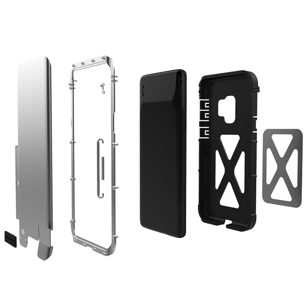 Phone Case For Samsung Galaxy S9 Armor Stainless Steel Heavy Duty Protection Armor Folding Stand Cover For Samsung S9 Plus