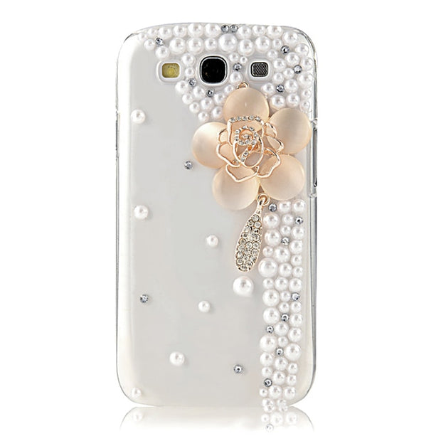 Phone Cases For Samsung Galaxy S3 Luxury Glitter Handmade Luxury 3D Diamond Flower Butterfly Crystal Phone Case For Galaxy S3