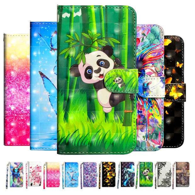 Phone Flip Etui Coque Cover Case For LG K8 K10 2017 2018 K9 K11 X4 Plus With Soft TPU High Quality Glossy 3D Painted PU Wallet