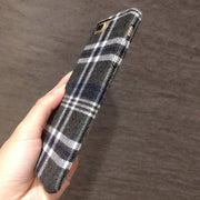 Plaid Iphone7plus Mobile Phone Shell Applexs Max Plush Cloth Protective Cover 8 Anti-fall 6s