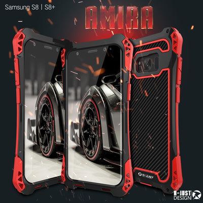 Powerful Amira Cell Phone Case For Samsung Galaxy S8 S8+ Plus Hard Cover Heavy Duty Protection Metal Silicone Plastic Shockproof