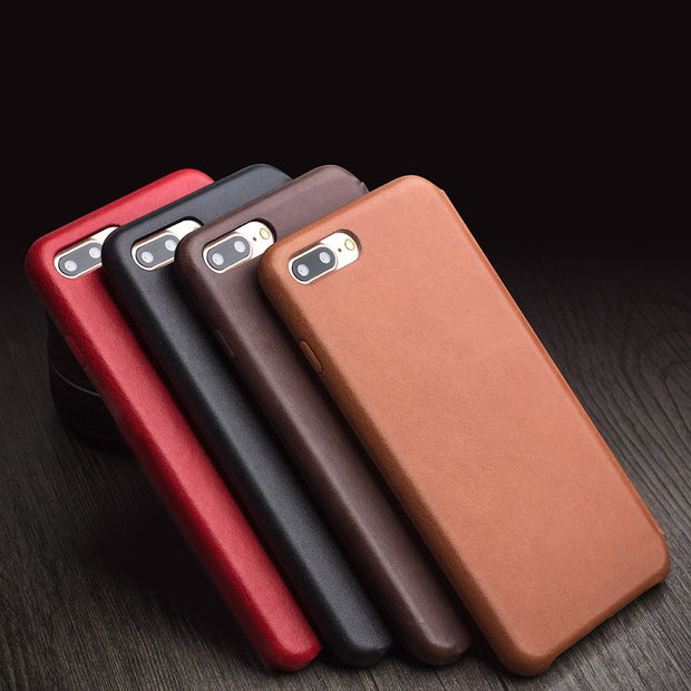 QIALINO Case For IPhone 7 8 Plus For IPhone X Genuine Leather For Apple IPhone 7 8 Plus X Luxury Ultra Slim Cover Handmade
