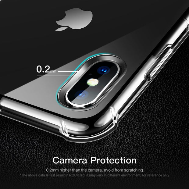 ROCK Fence Slim Case For Iphone XS Max Transparent Cover Ultra Thin Protective Soft TPU Silicone Back Shell For IPhone XS Max
