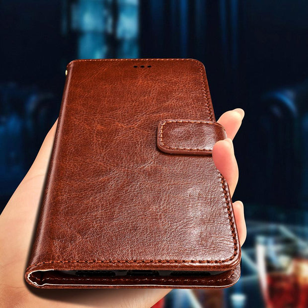 Retro Wallet PU Leather Case For Oukitel Mix 2 K10 U7 U16 Max U7 U20 Plus U18 U22 C3 C4 C8 K3 K5000 K8000 K6000 U15 Pro