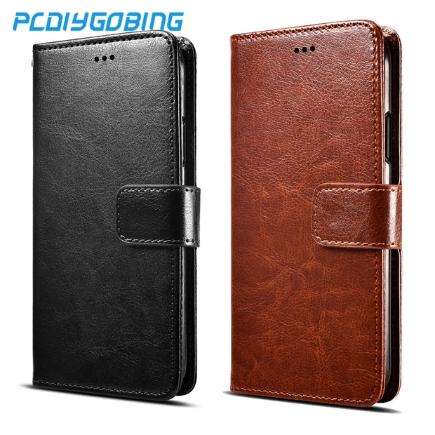 Retro Pu Leather Wallet Flip Cover Stand Case For Capa Para Huawei G7 G9 Plus Nova 2 2i Nova Lite P Smart Y3 II LUA-U22/ Lua-L21