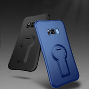 Rotating Bracket Anti-drop Mobile Phone Case For Samsung S7 Edge S8plus Silicone Case For Samsung S9 Plus Black Phone Case AB216