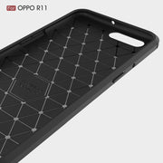 Rugged Armor Cases For OPPO R11 50pcs/lot Carbon Fiber Cover For OPPO R11 Plus Case Shockproof Heavy Duty Cover