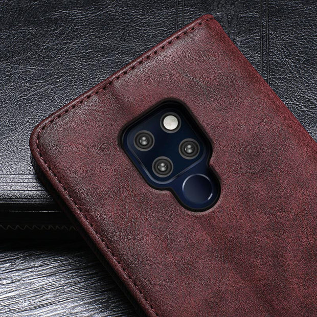 SHIODOKI For Huawei Mate 20 Case Luxury Cover Leather Case For Huawei Mate 20 Protective Phone Case Retro Back Cover