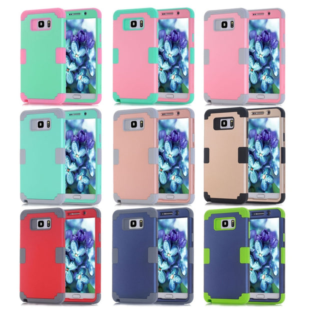 Shockproof Phone Case For Samsung Galaxy Note5 Case Durable PC+TPU 3 Layers Hybrid Full Body Protect Anti-Knock Phone Shell