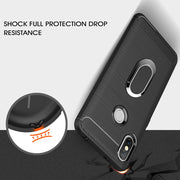 Silicone TPU Carbon Fiber Cases For Xiaomi Redmi S2 Magnetic Car Mount Ring Stand Holder For Redmi S2 Soft Case Redmi S 2 Coque