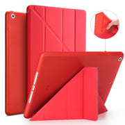 Smart Case For New Apple Tablet Pad 9.7 2018 Version Stand PU Leather Cover Soft TPU Silicone Bottom For Apple New Pad 9.7 2017