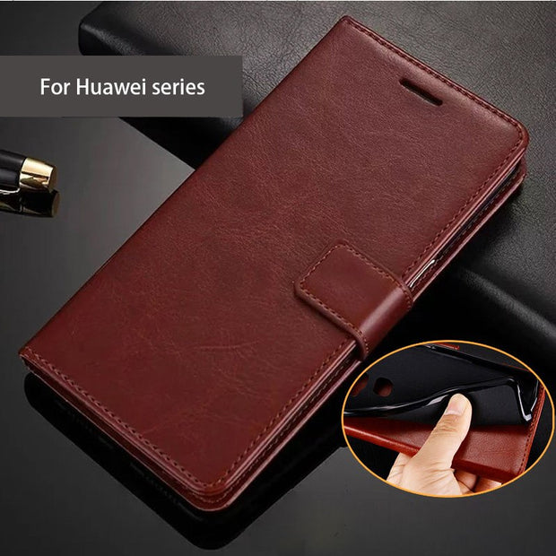 Smart View Huawei P Smart Case Leather,Phone Cases For Huawei P Smart Cover Case 100%