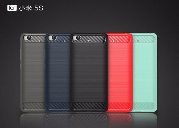 Smartphone Cases For Xiaomi 5s,50pcs/lot,Luxury Carbon Fiber Rugged Armor TPU Protective Cover For Xiaomi 5s Case,5.5 Inch
