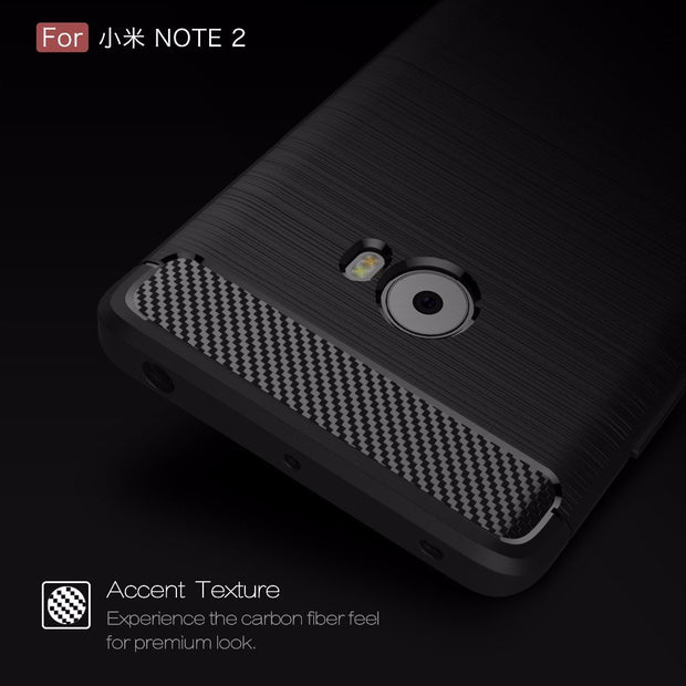 Smartphone Cases For Xiaomi Note2,50pcs/lot,carbon Fiber Rugged Armor TPU Protective Cover For Xiaomi Note2 Case,free Shipping