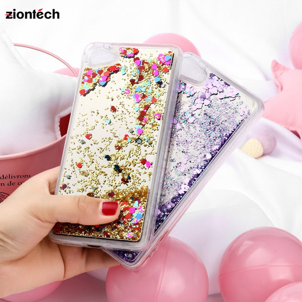 Soaptree Dynamic Mirror Liquid Quicksand Cases For Alcatel A5 LED OT5085 5085Y 5085D 5.2 Inch Shiny Sequin TPU Glitter Case