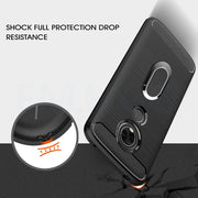 Soft TPU Carbon Fiber Cases For Motorola Moto E5 Plus Cover Magnetic Car Mount Ring Stand Holder For Moto E5 E5P Case Cover