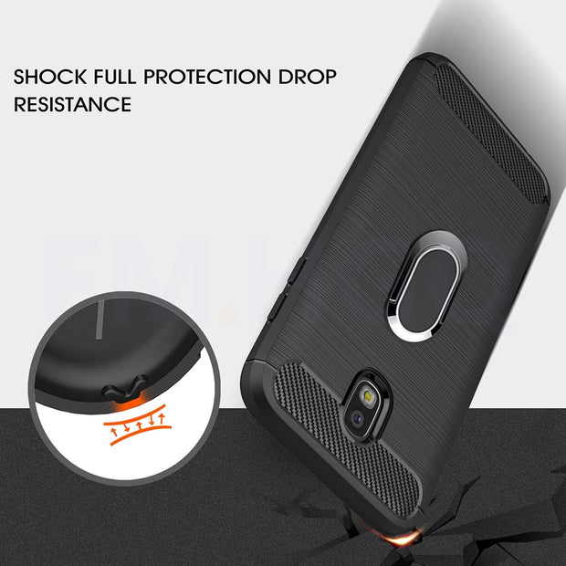Soft TPU Cases For Samsung Galaxy J5 2017 J530F J530 Eurasian Version With Magnetic Car Ring Stand For J3 J7 2017 J330 J730 Case
