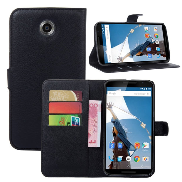 Stand Shell Etui Holster For Google Nexus 6 /for Motorola Nexus 6 Case Luxury Wallet Case Flip Leather Case Cover Card Holder