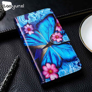 TAOYUNXI PU Leather Case For One Plus 6T Case Flip Wallet Painted Cases For OnePlus 6T Cover Coque Flower Animal Bags 6.41 Inch
