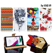 TAOYUNXI PU Leather Case For Vivo V9 Case Flip Wallet DIY Cases For Vivo V9 Cover Coque Flower FOR Vivo Y85 V 9 Y 85 6.3 Inch