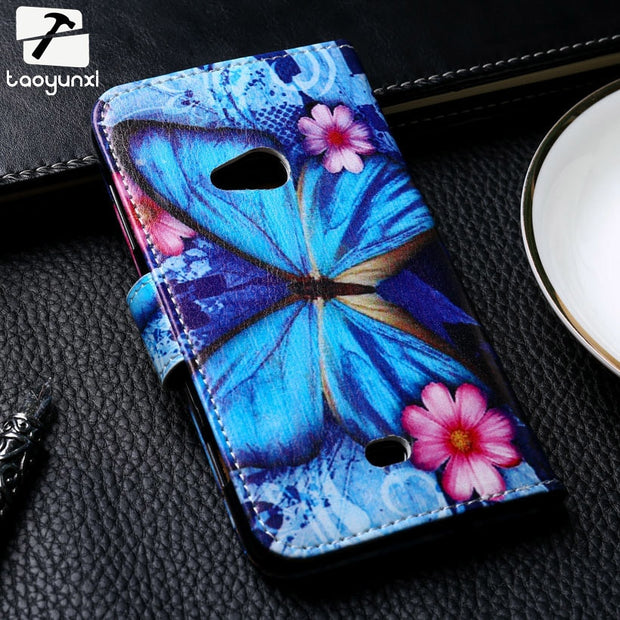 TAOYUNXI Painted Leather Covers Cases For Nokia Lumia 650 N650 640XL 640 XL N640XL 610 N610 Flip Case Cover Bag