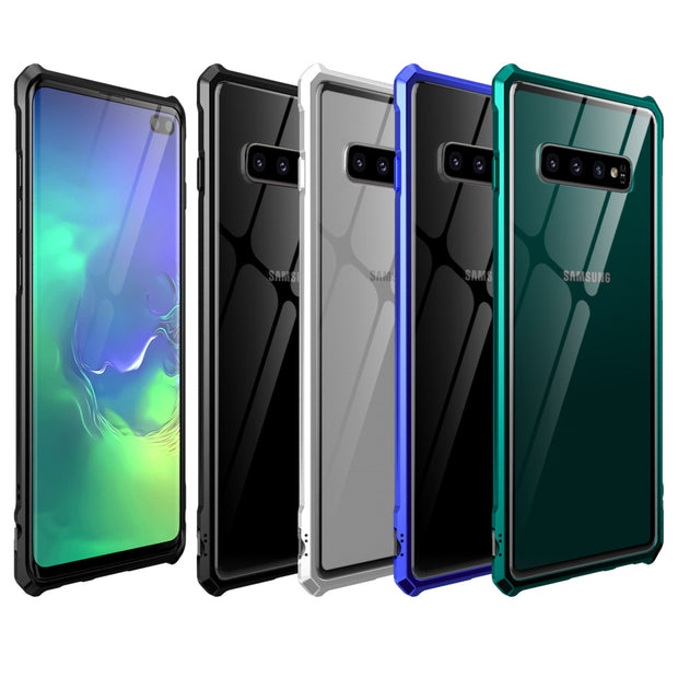 Tempered Glass Case For Samsung S10 Plus Case Metal Frame Hard Cover For Samsung Galaxy S10 Plus Lite Case