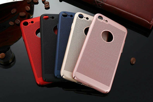 UVR For Apple IPhone 7 Honeycomb Back Cover Heat Dissipation Cooling Housing For IPhone 6 6s 6s Plus 7 7plus Phone Cases