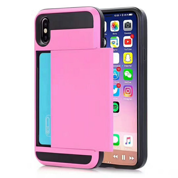 UVR Free Shipping 11colours Armor Insert TPU+PC Housing Plastic Newest Cover Case For Apple Iphone 6 6s 7plus 8 Cell Phone Case