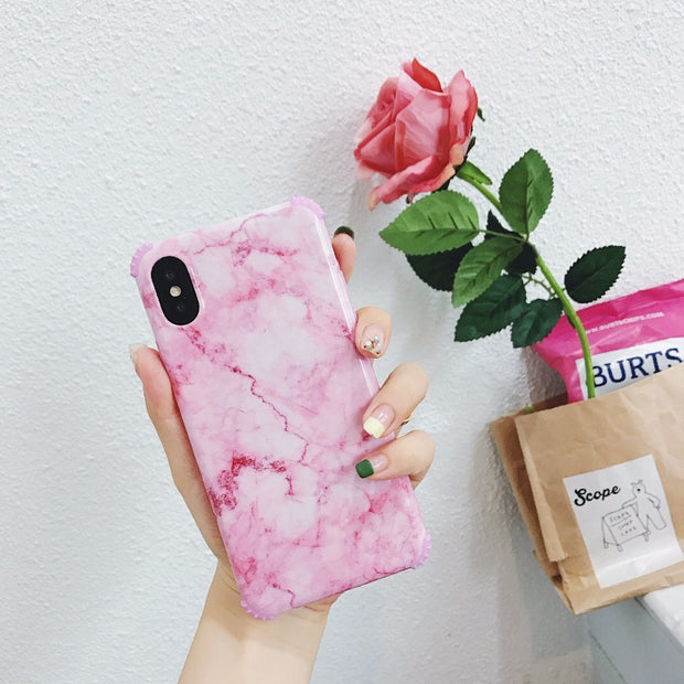 Unique Marble Design, Shock Proof Thin Case For IPhone X/6/7/8 Plus IMD Design Stone Pattern TPU Shell Cover Case