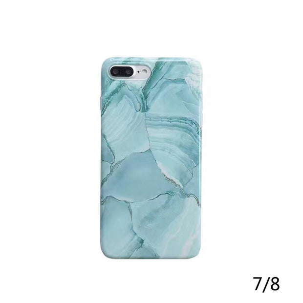 Unisex Fashion Print Back Cover Phone Case Blue Phone Protective Cover