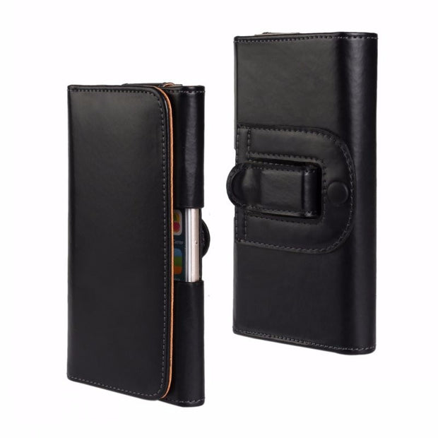 Universal 5.5 Holster Case Pouch Leather Cover Waist Bag For Samsung Galaxy Iphone Sony LG Huawei Belt Clip