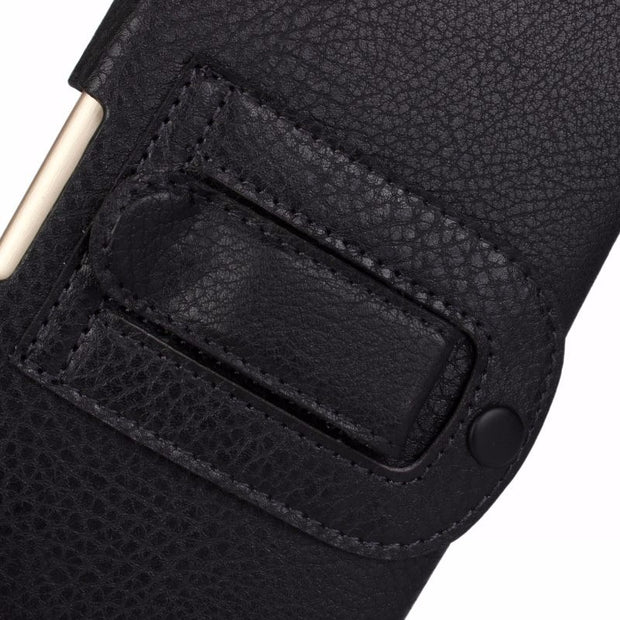 "Universal 5"" Holster Case Pouch PU Leather Cover Waist Bag For Samsung Galaxy Iphone HTC LG Huawei Belt Clip"