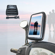 Universal Motorcycle Phone Holder Waterproof Bag Bike Navigation Touch Shockproof Phone Stand For IPhone Samsung Xiaomi GPS