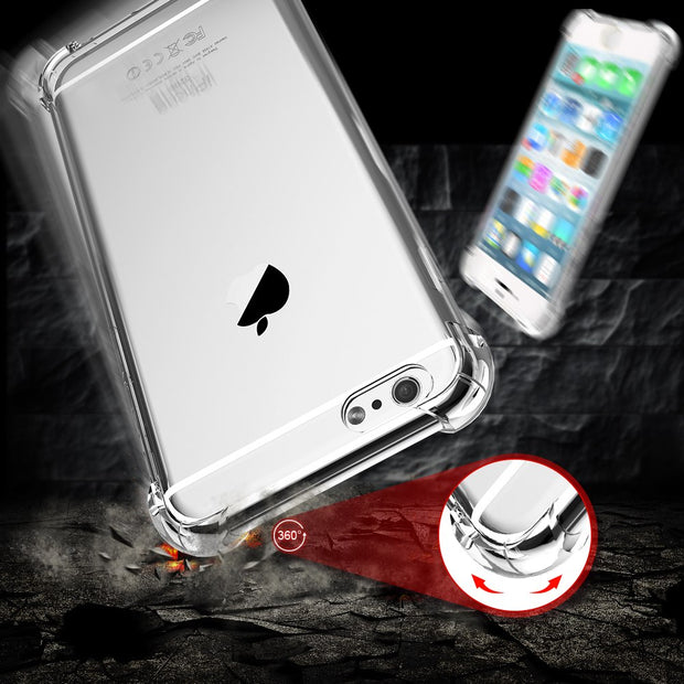 VOTHOON 100pcs Crystal Clear Soft TPU Case For IPhone X 8 Plus 7 6 6+Anti Knock Protective Back Cover For Samsung Galaxy S9 Plus