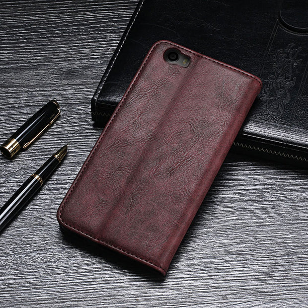 Vernee Mars Pro Luxury Flip Leather Case Cover For Vernee Mars Pro Phone Protective Case Retro