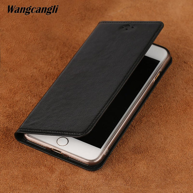 Vintage Business Phone Case For Huawei P20 Lite Handmade Genuine Leather Phone Case Plain Weave Mobile Phone Protection Cover