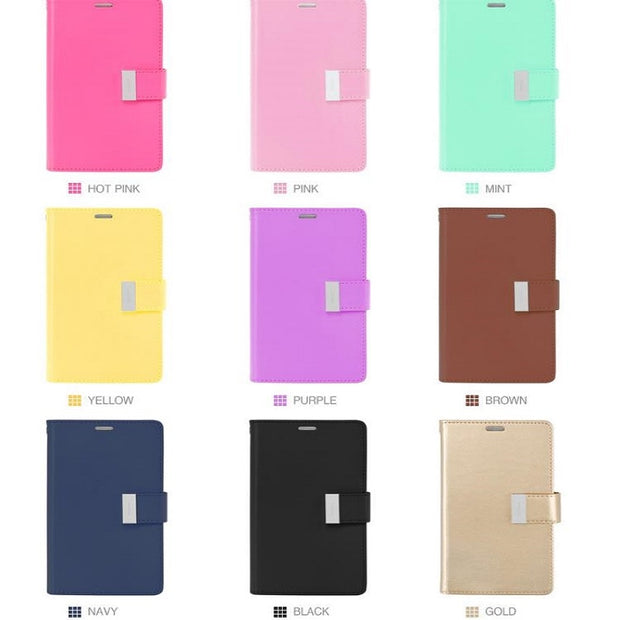 WHOLESALE Mercury Goospery RICH Diary Card Wallet Leather Stand Case Cover Bag For IPHONE XR XS MAX X 7 8 6 6S PLUS 5 5S SE OEM