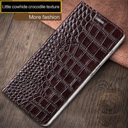 Wangcangli New Crocodile Texture Phone Case For Nokia X6 Flip Phone Protection Case All Hand Made Genuine Leather Phone Case