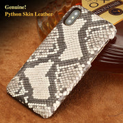 Wangcangli Brand Cell Phone Case Natural Python Skin Cover Phone Case For Iphone 6P 6SP Cell Phone Cover All Handmade Custom