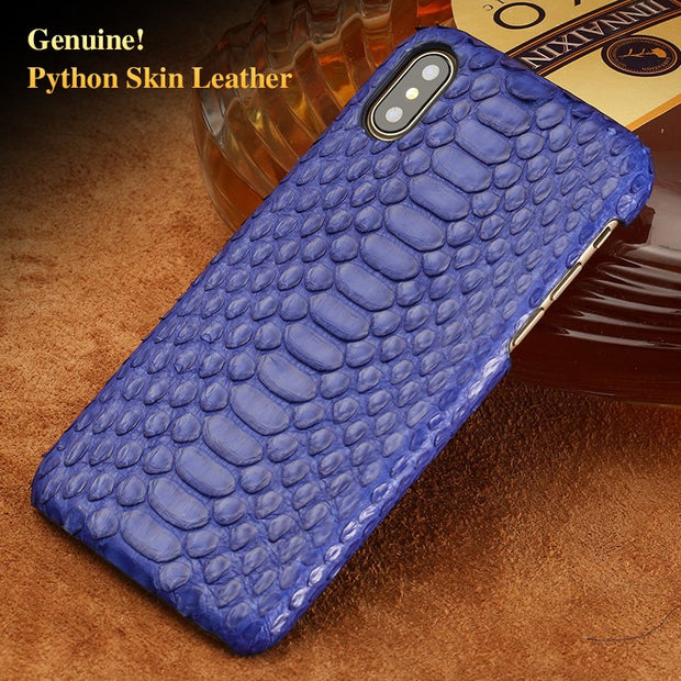 Wangcangli Brand Cell Phone Case Natural Python Skin Cover Phone Case For Iphone 8Plus Cell Phone Cover All Handmade Custom