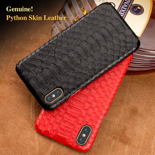 Wangcangli Brand Cell Phone Case Natural Python Skin Cover Phone Case For Iphone X Cell Phone Cover All Handmade Custom